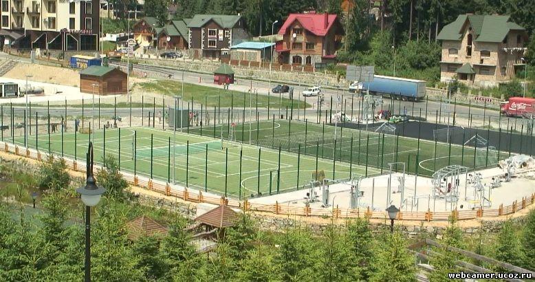 спортивные площадки в отеле в карпатах